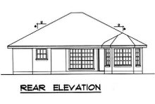 Home Plan - Traditional Exterior - Rear Elevation Plan #40-282