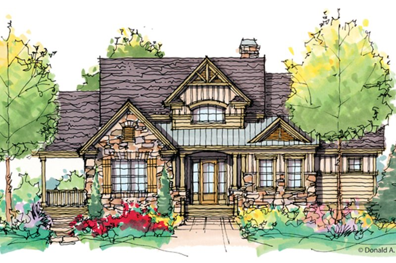 Craftsman Exterior - Front Elevation Plan #929-945