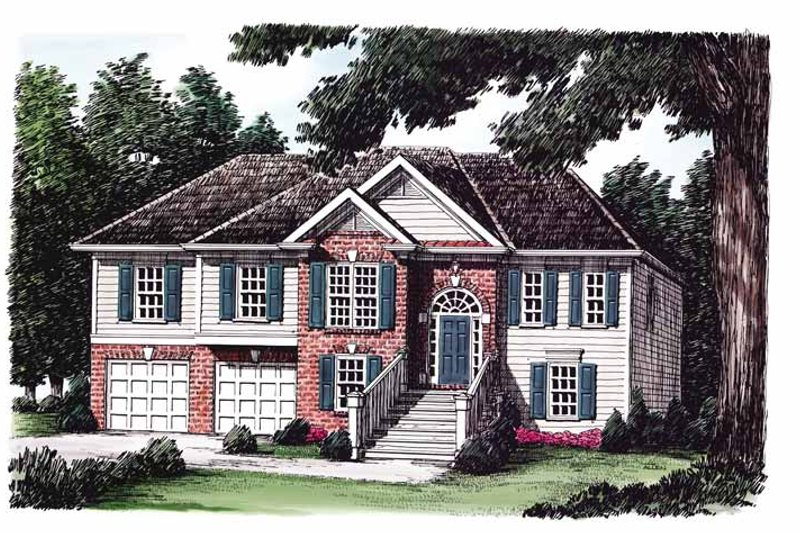 Colonial Exterior - Front Elevation Plan #927-214