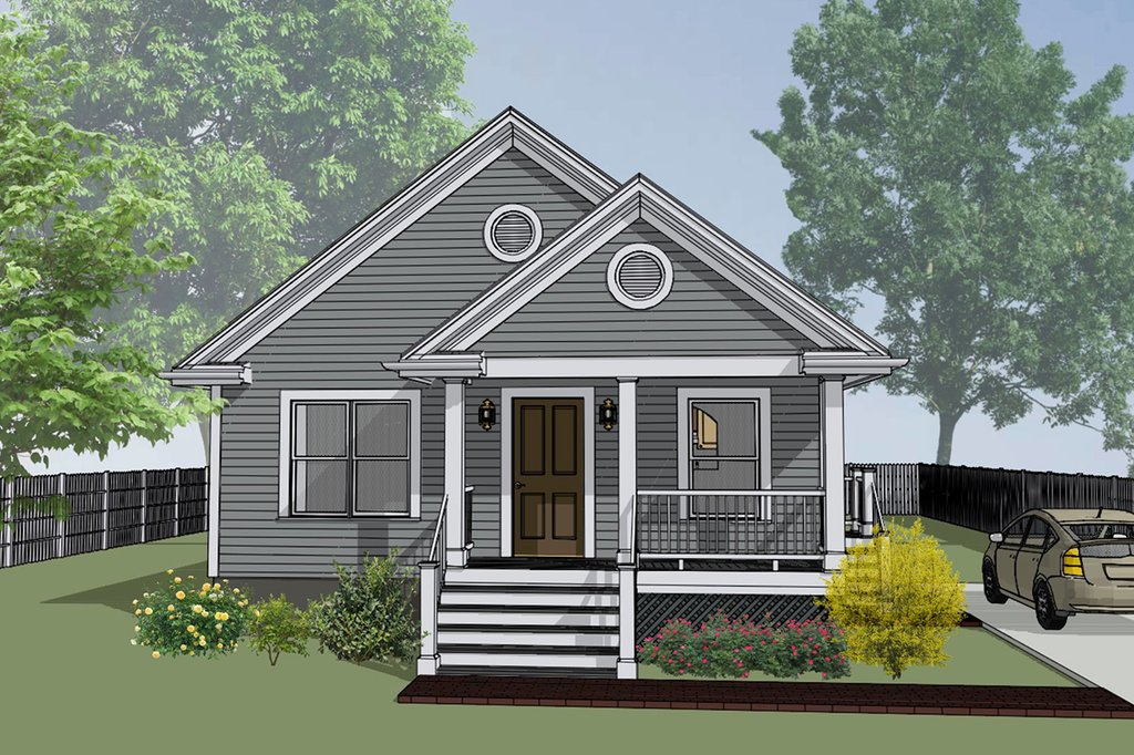 Bungalow Style House Plan 3 Beds 2 Baths 1092 Sq Ft Plan 79 116 Eplans Com