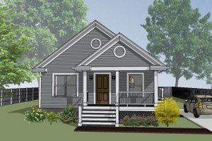 Home Plan Design - Bungalow Exterior - Front Elevation Plan #79-116