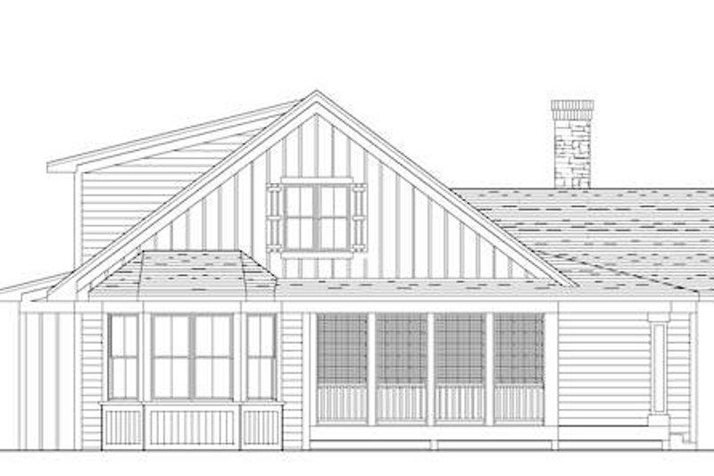 Farmhouse Exterior - Rear Elevation Plan #51-349 - Houseplans.com