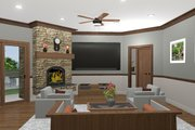Cottage Style House Plan - 3 Beds 3 Baths 1898 Sq/Ft Plan #56-716 Interior - Family Room