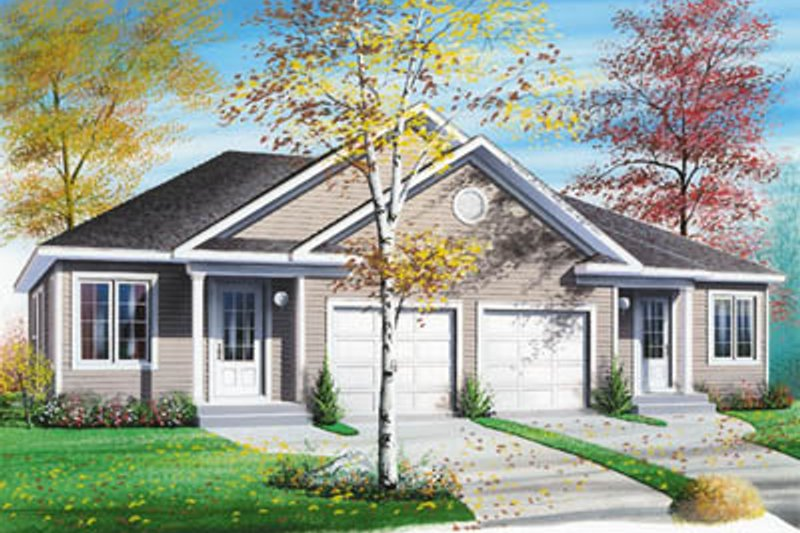 Architectural House Design - Traditional Exterior - Front Elevation Plan #23-154