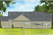 Ranch Style House Plan - 3 Beds 2 Baths 2212 Sq/Ft Plan #1010-193 Exterior - Rear Elevation