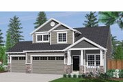 Craftsman Style House Plan - 3 Beds 2.5 Baths 1753 Sq/Ft Plan #943-16 Exterior - Front Elevation