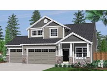 Home Plan - Craftsman Exterior - Front Elevation Plan #943-16