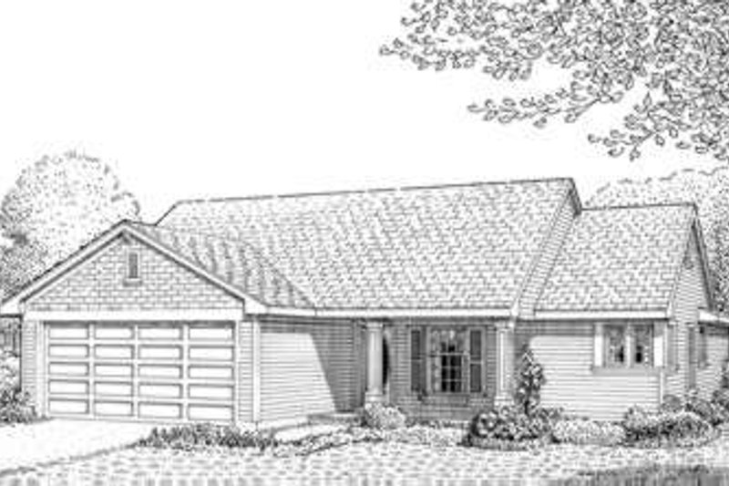 Country Exterior - Front Elevation Plan #410-260