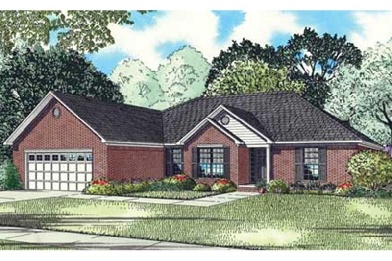 Country Exterior - Front Elevation Plan #17-3304 - Houseplans.com