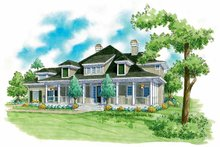 Victorian Exterior - Front Elevation Plan #930-242
