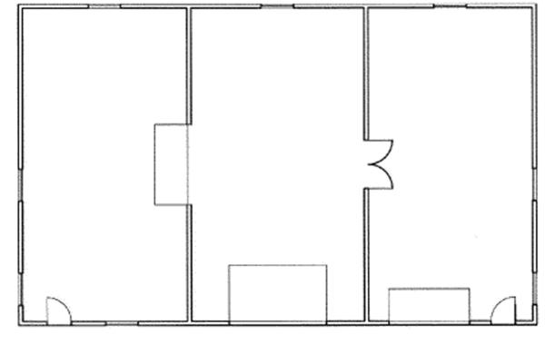 Contemporary Floor Plan - Main Floor Plan Plan #117-846