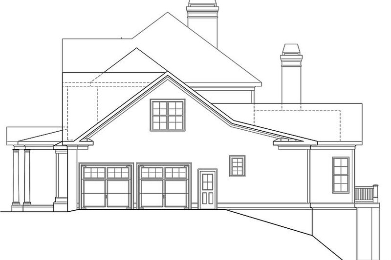 Traditional Exterior - Other Elevation Plan #927-963 - Houseplans.com
