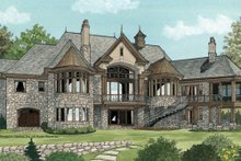 House Plan Design - European Exterior - Rear Elevation Plan #929-895