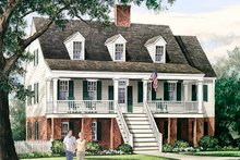 House Plan Design - Colonial Exterior - Front Elevation Plan #137-373