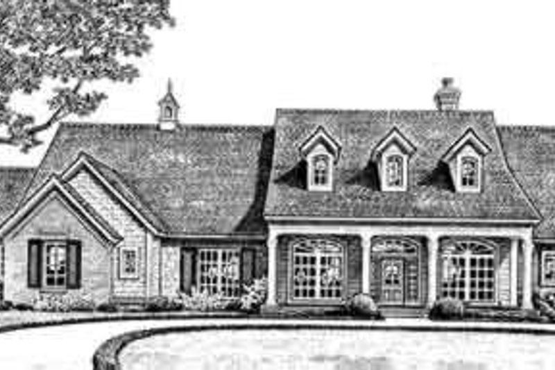 Farmhouse Style House Plan - 3 Beds 2.5 Baths 2540 Sq/Ft Plan #310-259 Exterior - Front Elevation