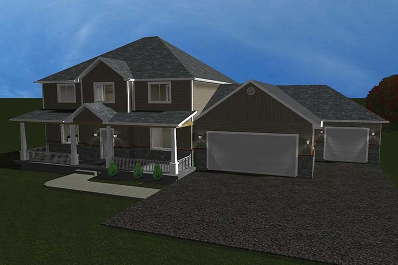 Traditional Exterior - Front Elevation Plan #1060-8 - Houseplans.com