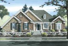 Cottage Exterior - Front Elevation Plan #46-826