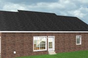 Ranch Style House Plan - 3 Beds 2 Baths 1700 Sq/Ft Plan #44-104 Exterior - Rear Elevation