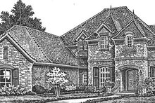 European Exterior - Front Elevation Plan #310-1277