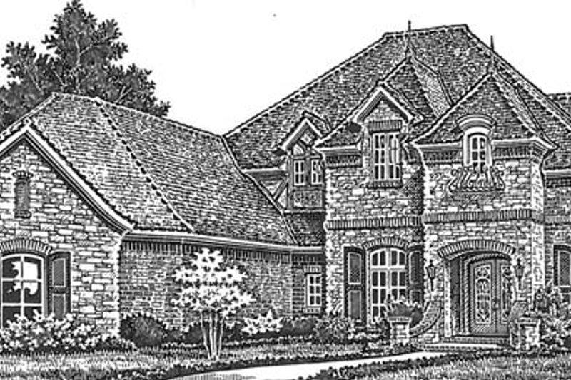 European Exterior - Front Elevation Plan #310-1277 - Houseplans.com