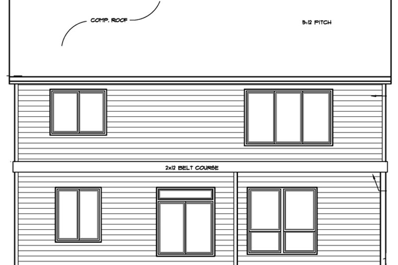 Country Exterior - Rear Elevation Plan #509-312 - Houseplans.com