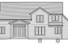 House Plan Design - Country Exterior - Rear Elevation Plan #46-867