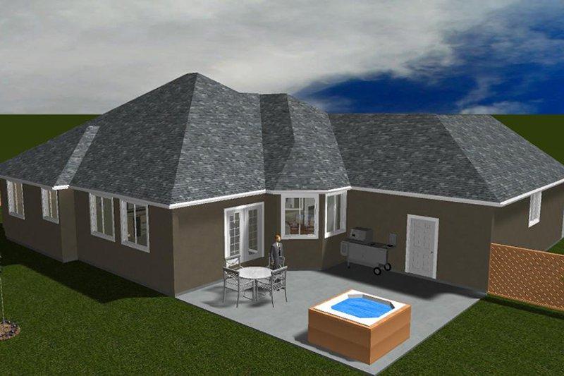 Ranch Exterior - Rear Elevation Plan #1060-34 - Houseplans.com