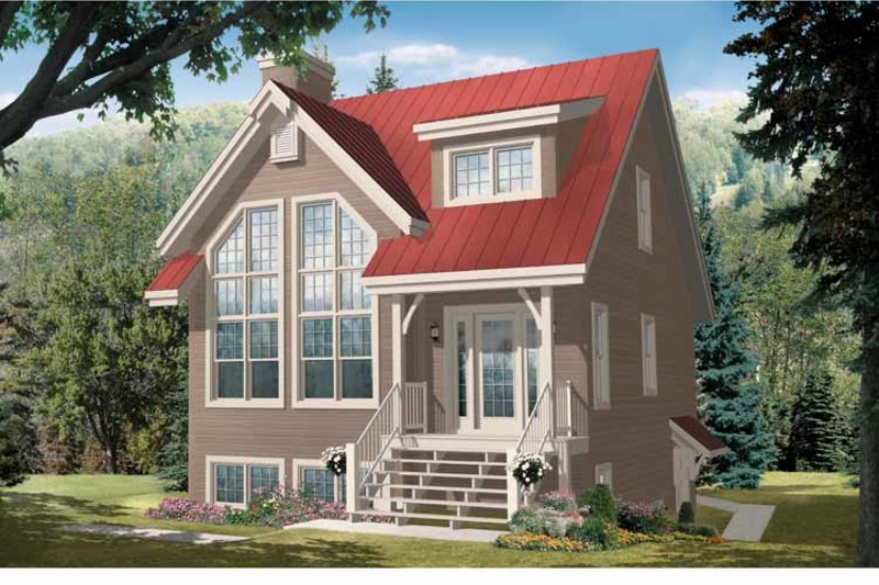 Country Exterior - Front Elevation Plan #23-2419 - Houseplans.com