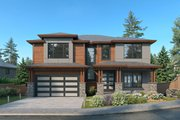 Contemporary Style House Plan - 4 Beds 3 Baths 3051 Sq/Ft Plan #1066-130 Exterior - Front Elevation