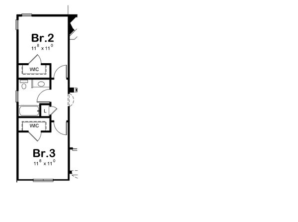 Home Plan - Optional Bedroom Layout