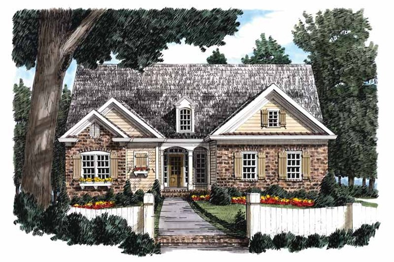 Ranch Exterior - Front Elevation Plan #927-828