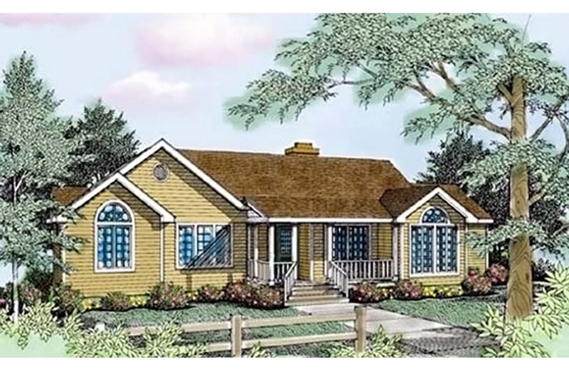 Architectural House Design - Traditional Exterior - Front Elevation Plan #314-236