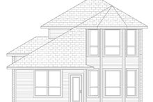 European Exterior - Rear Elevation Plan #84-564