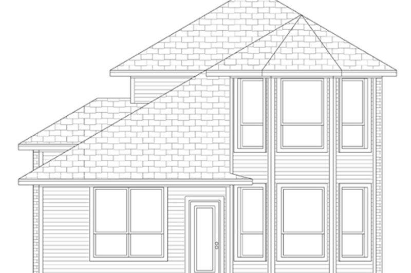 European Exterior - Rear Elevation Plan #84-564 - Houseplans.com