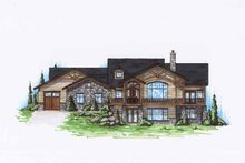 Architectural House Design - Craftsman Exterior - Front Elevation Plan #945-127