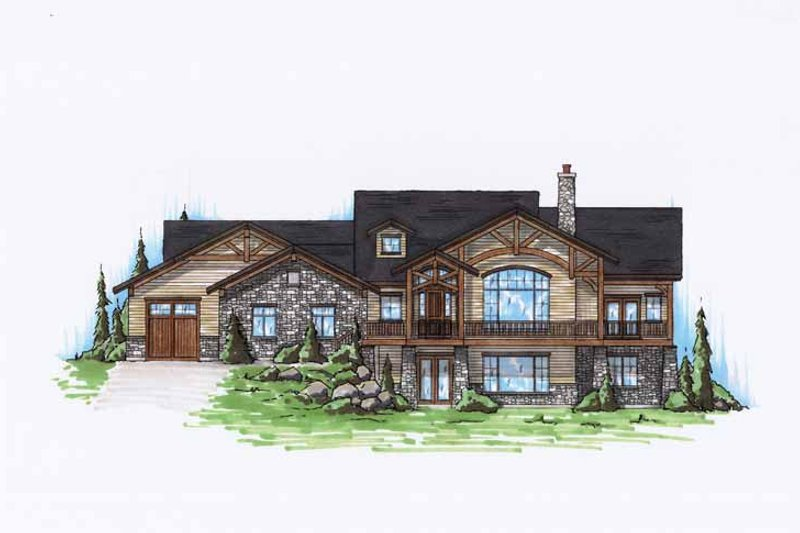 Dream House Plan - Craftsman Exterior - Front Elevation Plan #945-127