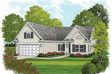 Architectural House Design - Colonial Exterior - Front Elevation Plan #453-627