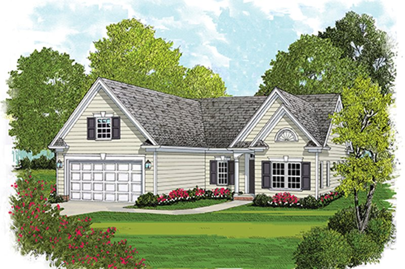 Colonial Exterior - Front Elevation Plan #453-627