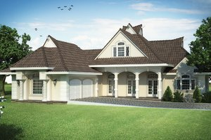 European Exterior - Front Elevation Plan #45-568