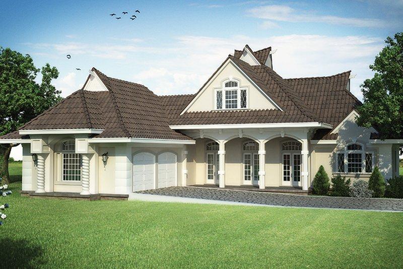 Dream House Plan - European Exterior - Front Elevation Plan #45-568