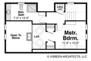 Log Style House Plan - 2 Beds 2 Baths 1338 Sq/Ft Plan #928-281 Floor Plan - Upper Floor Plan