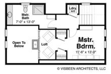 Log Floor Plan - Upper Floor Plan Plan #928-281