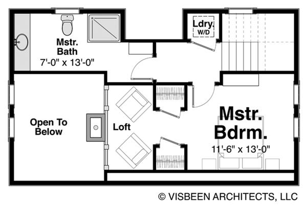 Home Plan - Log Floor Plan - Upper Floor Plan #928-281