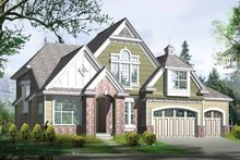 Country Exterior - Front Elevation Plan #132-307