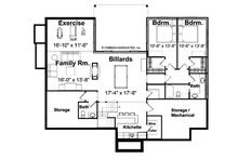 European Floor Plan - Lower Floor Plan Plan #928-40