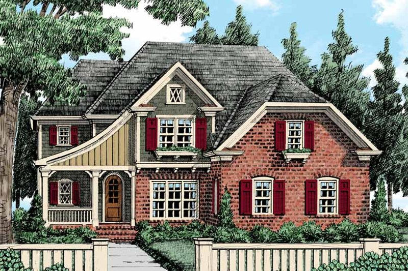 Tudor Exterior - Front Elevation Plan #927-421 - Houseplans.com