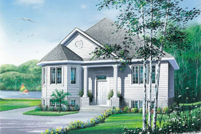 European Exterior - Front Elevation Plan #23-305 - Houseplans.com