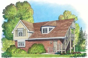 Home Plan - Colonial Exterior - Front Elevation Plan #1016-87