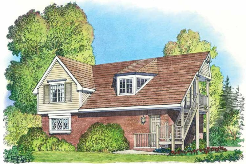 Colonial Exterior - Front Elevation Plan #1016-87