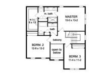 Colonial Floor Plan - Upper Floor Plan Plan #1010-46